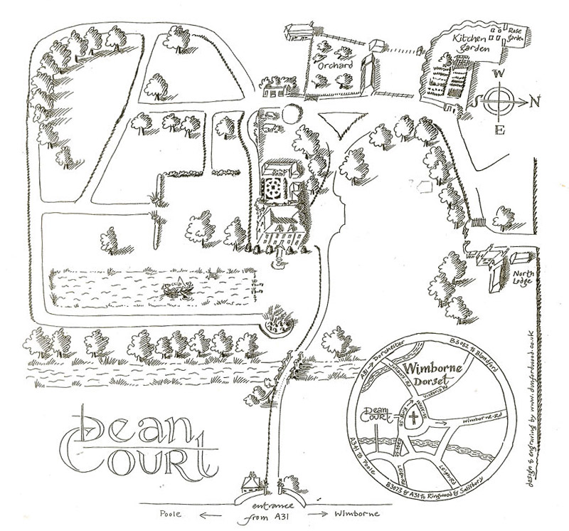 Dunford Wood - Designs - Dean Court Map