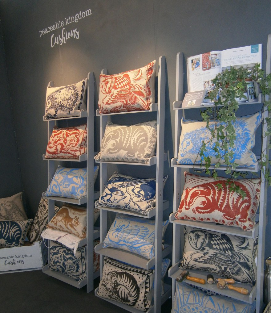 Peacebale Kingdom Cushions Exhibition Stand at Top Drawer in London